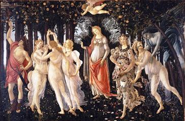 sandro botticelli allegoria primavera